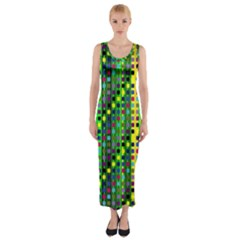 Patterns For Wallpaper Fitted Maxi Dress