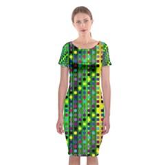 Patterns For Wallpaper Classic Short Sleeve Midi Dress
