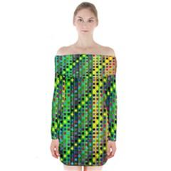 Patterns For Wallpaper Long Sleeve Off Shoulder Dress
