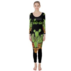 Cactus   Dont Be A Prick Long Sleeve Catsuit
