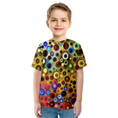 Colorful Circle Pattern Kids  Sport Mesh Tee