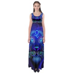 Sign Leo Zodiac Empire Waist Maxi Dress