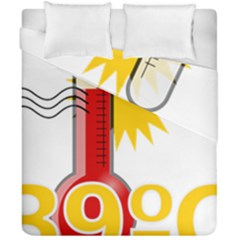Thermometer Themperature Hot Sun Duvet Cover Double Side (california King Size)