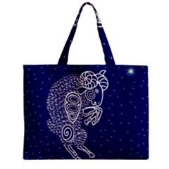 Aries Zodiac Star Zipper Mini Tote Bag