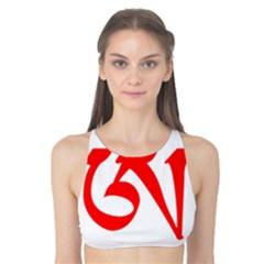 Tibetan Om Symbol (red) Tank Bikini Top