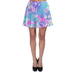 Flowers Cute Pattern Skater Skirt