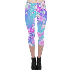 Flowers Cute Pattern Capri Leggings