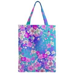 Flowers Cute Pattern Zipper Classic Tote Bag