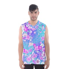 Flowers Cute Pattern Men s Basketball Tank Top