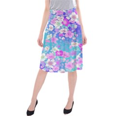 Flowers Cute Pattern Midi Beach Skirt