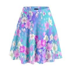 Flowers Cute Pattern High Waist Skirt