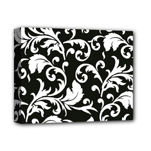 Black And White Floral Patterns Deluxe Canvas 14  x 11