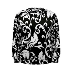 Black And White Floral Patterns Women s Sweatshirt