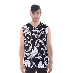 Black And White Floral Patterns Men s Basketball Tank Top