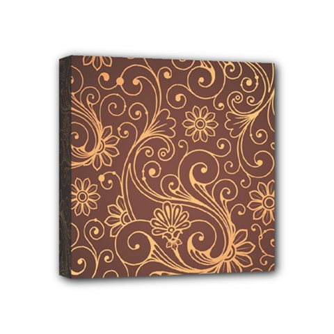 Gold And Brown Background Patterns Mini Canvas 4  X 4