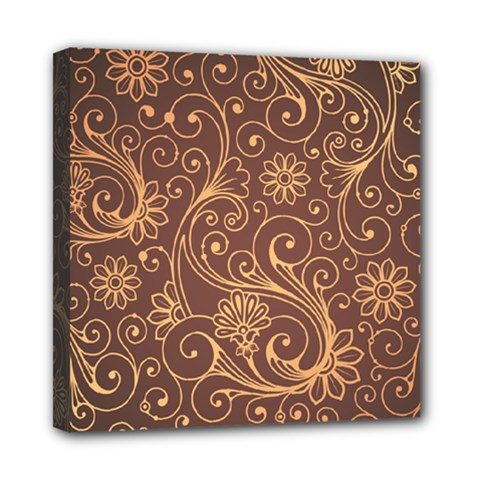 Gold And Brown Background Patterns Mini Canvas 8  X 8
