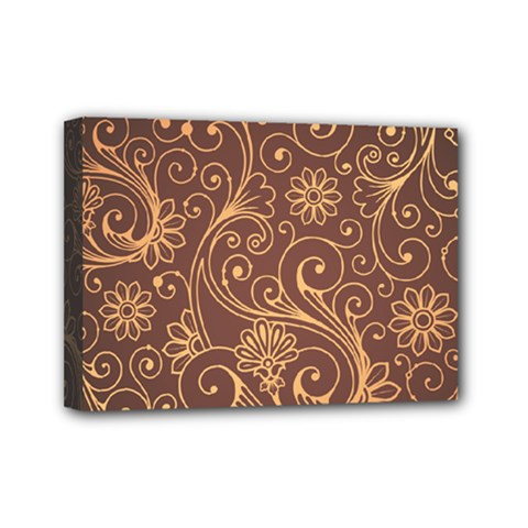 Gold And Brown Background Patterns Mini Canvas 7  X 5