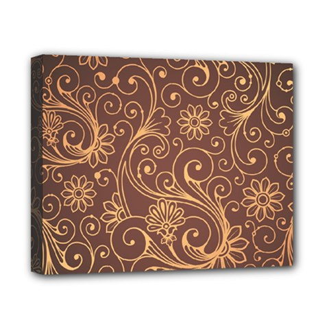 Gold And Brown Background Patterns Canvas 10  X 8