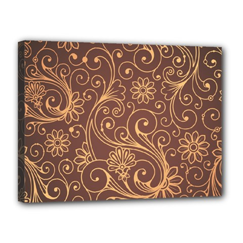 Gold And Brown Background Patterns Canvas 16  X 12