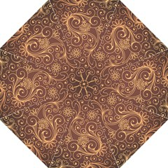 Gold And Brown Background Patterns Folding Umbrellas