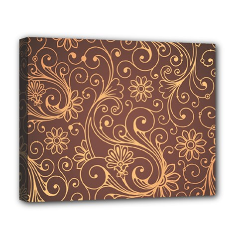 Gold And Brown Background Patterns Deluxe Canvas 20  x 16