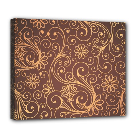 Gold And Brown Background Patterns Deluxe Canvas 24  x 20