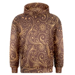 Gold And Brown Background Patterns Men s Pullover Hoodie