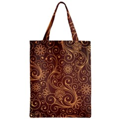 Gold And Brown Background Patterns Zipper Classic Tote Bag
