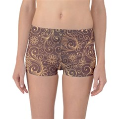 Gold And Brown Background Patterns Reversible Bikini Bottoms