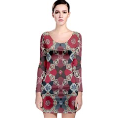Beautiful Art Pattern Long Sleeve Bodycon Dress