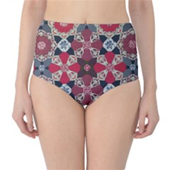 Beautiful Art Pattern High Waist Bikini Bottoms