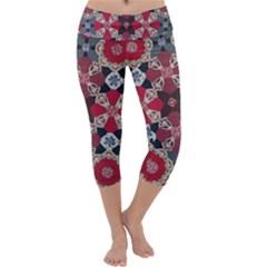 Beautiful Art Pattern Capri Yoga Leggings