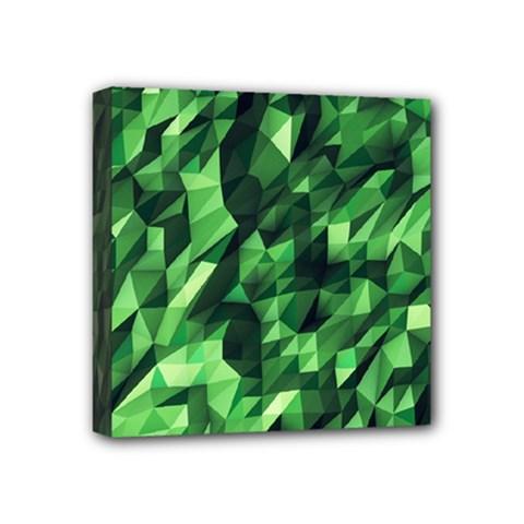 Green Attack Mini Canvas 4  x 4