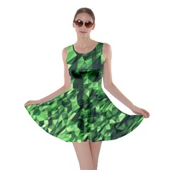Green Attack Skater Dress