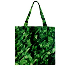 Green Attack Zipper Grocery Tote Bag