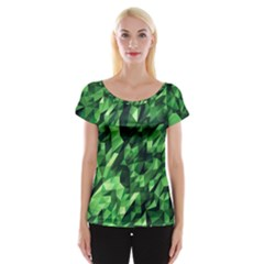 Green Attack Women s Cap Sleeve Top