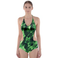 Green Attack Cut Out One Piece Swimsuit