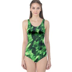Green Attack One Piece Swimsuit