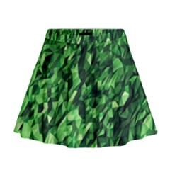 Green Attack Mini Flare Skirt