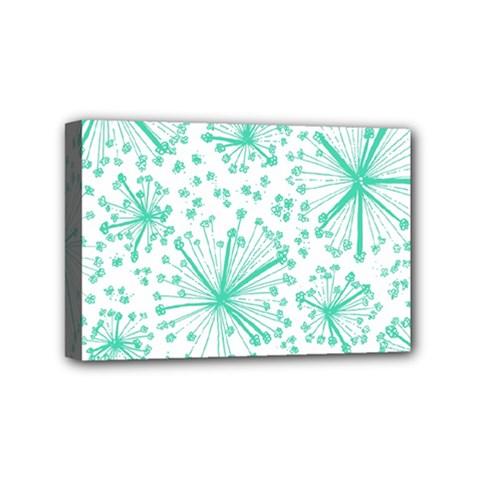 Pattern Floralgreen Mini Canvas 6  x 4