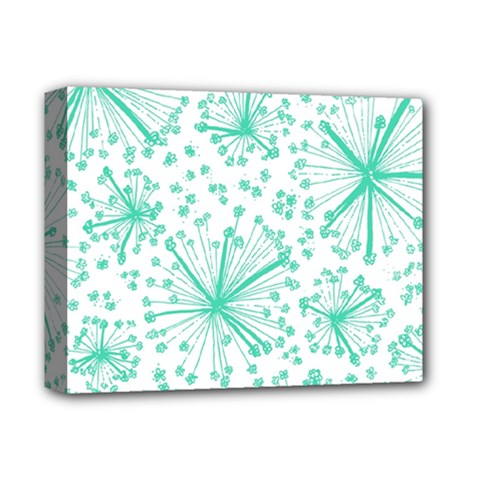 Pattern Floralgreen Deluxe Canvas 14  X 11