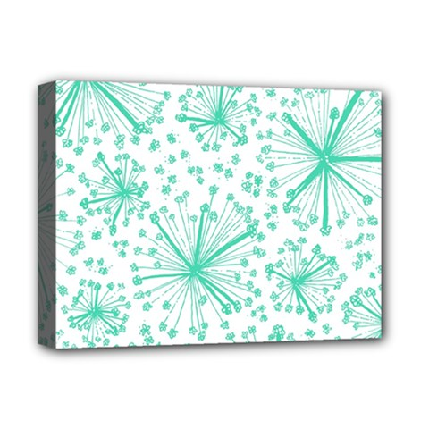 Pattern Floralgreen Deluxe Canvas 16  X 12