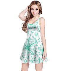 Pattern Floralgreen Reversible Sleeveless Dress