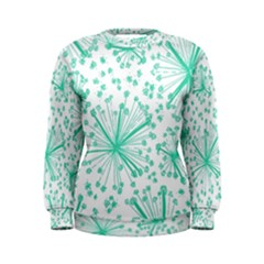 Pattern Floralgreen Women s Sweatshirt