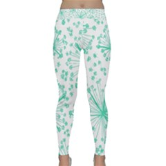 Pattern Floralgreen Classic Yoga Leggings