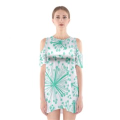 Pattern Floralgreen Shoulder Cutout One Piece