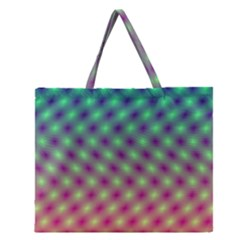 Art Patterns Zipper Large Tote Bag