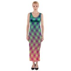 Art Patterns Fitted Maxi Dress