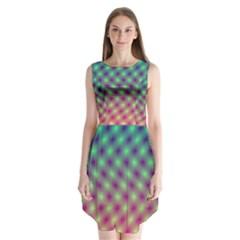 Art Patterns Sleeveless Chiffon Dress
