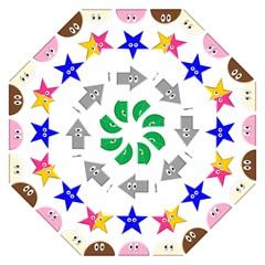 Cute Symbol Straight Umbrellas